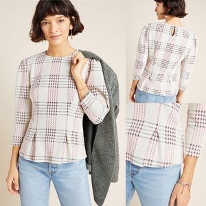 Anthropologie Structured Plaid Pullover by Dolan S